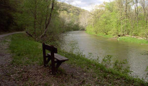 Benches along the trail invite you to stop and enjoy the scenic views