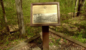 One of the many interpretive signs along the trail relating the history of the area