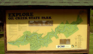 Map of the park at the Petroleum Center trail head