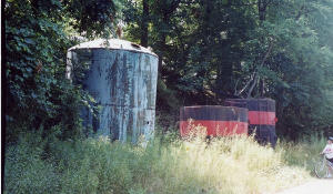 Oil tanks located along the trail