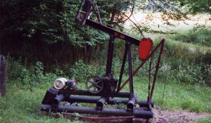 Oil well located along the trail