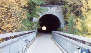 The 1000 foot long Deep Valley Tunnel is about 2 miles east of Belmar.
