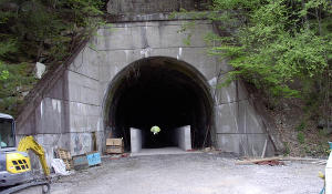 The walls for the Deep Valley Tunnel liner.