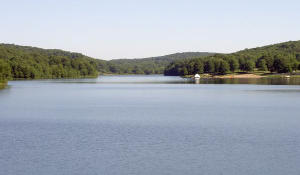 Justus Lake from the dam
